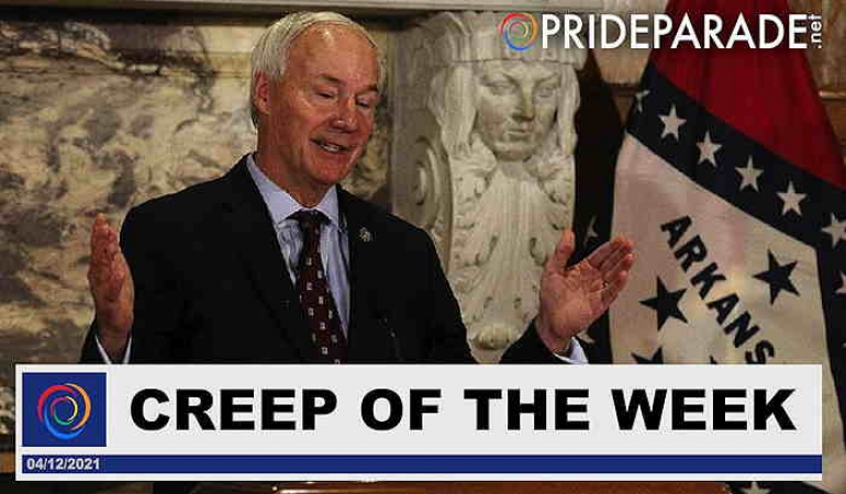Creep Of The Week: Gov. Asa Hutchinson